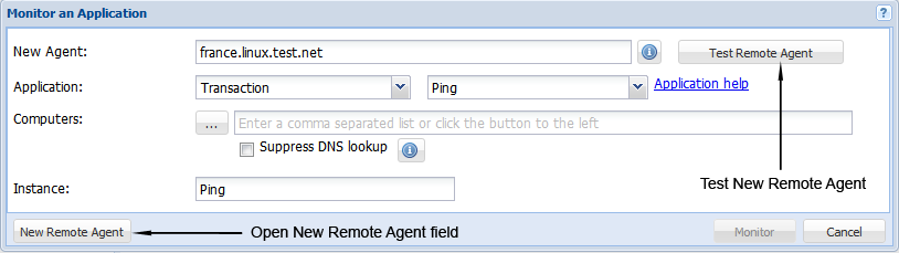 Create New Remote Agent