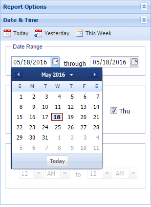Calendar Time options